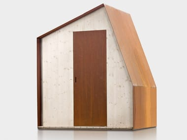 Spruce and Corten garden shed COTTAGE N.1