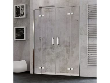 Niche shower cabin with double hinged doors COVER 2AC