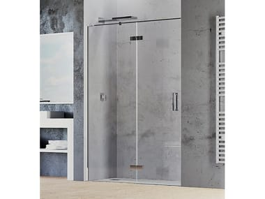 Niche shower cabin with hinged door COVER B1