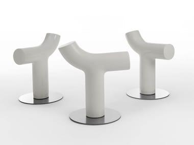 Low ceramic stool COW
