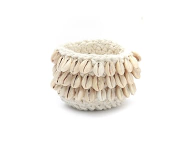 Cotton candle holder COWRIE | Candle holder