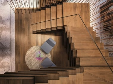 Walnut Open staircase CP LAB DESIGN | Open staircase