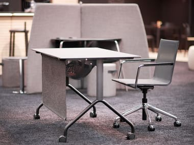 Folding workstation desk with casters FX TABLE
