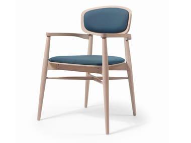 Cadeira de madeira com braços CRAFT EST CB
