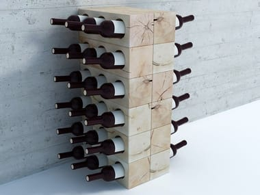 Beech wine storage / bottle rack CRAFTWAND® | Bottle rack