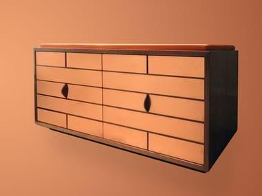 Wood veneer shoe cabinet CRAIG