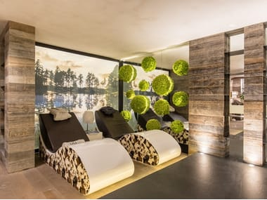Indoor spruce wall tiles CRANS MONTANA