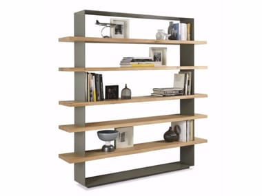 Open wooden bookcase CRAZY