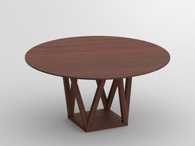 round solid wood dining table creo