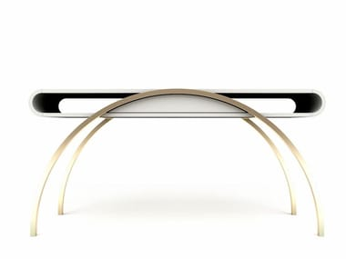 Lacquered rectangular MDF console table with drawers CRESCENT | Console table