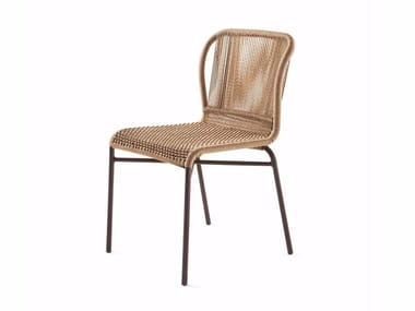 Hand woven man-made fibre chair CRICKET | Chair
