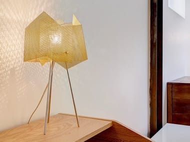 Lampada da tavolo in acciaio inox CRISTAL N°34A