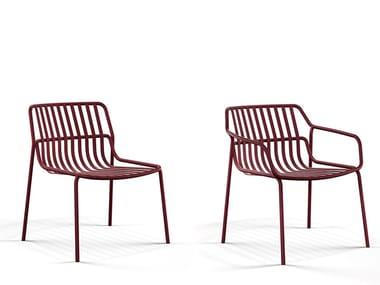 Stackable powder coated steel easy chair CRONA STEEL   Easy chair