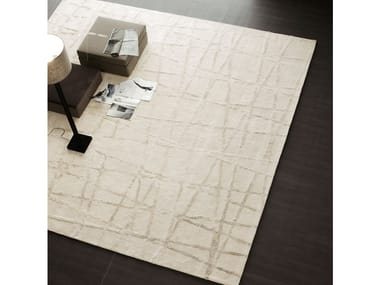Solid-color rectangular rug CROSS