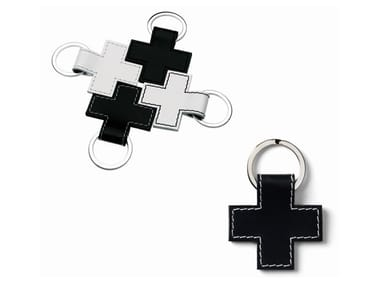 Tanned leather Keychain CROSS | Keychain