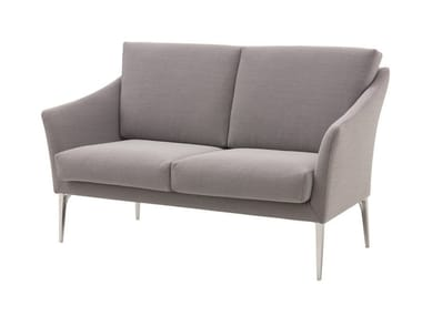 2 seater fabric sofa with removable cover CROSS | 2 seater sofa