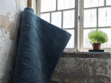 Wool rug with geometric shapes CROSS | Handmade rug