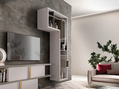 Open wooden wall cabinet with shelving CROSS