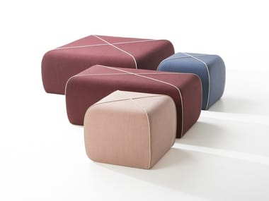 Upholstered pouf CROSSED