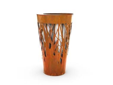 Galvanized steel litter bin CROSSED | Litter bin
