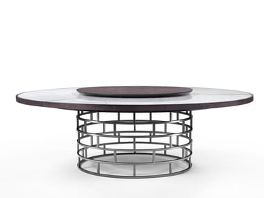Round table with Lazy Susan CROWN