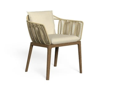 Garden chair with armrests CRUISE TEAK | Chair