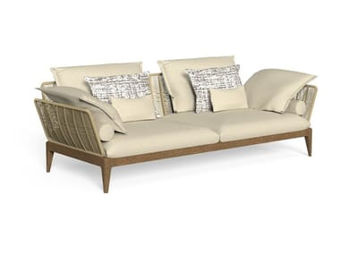 Canapé de jardin 3 places en tissu CRUISE TEAK   Canapé de jardin