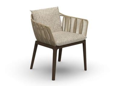 Sedia da giardino con braccioli CRUISE TEAK | Sedia