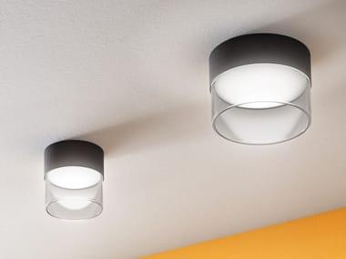 Plafoniera a LED in ferro e vetro CRUMB