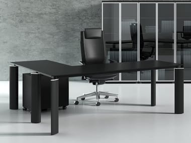L-shaped office desk with drawers CRYSTAL | L-shaped office desk