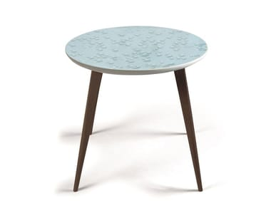 Round porcelain coffee table CRYSTAL MOMENT WENGE