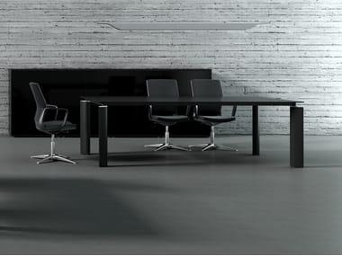 Tavolo da riunione rettangolare CRYSTAL | Tavolo da riunione