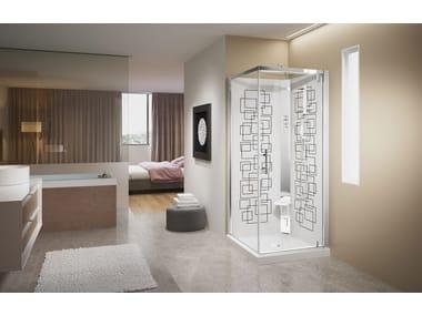 Box doccia con idromassaggio con porta scorrevole CRYSTAL