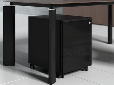 Office drawer unit with casters CRYSTAL | Office drawer unit