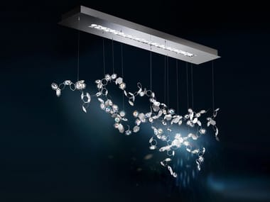 LED direct light pendant lamp with Swarovski® Crystals CRYSTALON | Pendant lamp