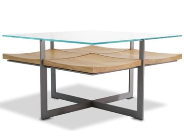 Wood and glass coffee table CT01-FALLINGWATER