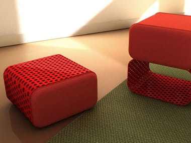 Perforated metal pouf CUB8
