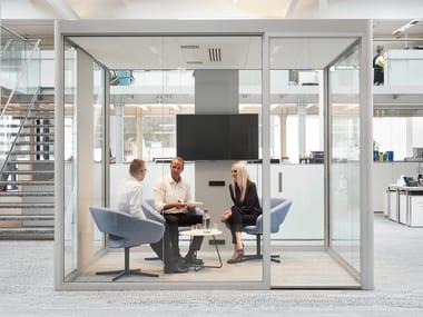 Akustisches Bürokabine mit integrierter Beleuchtung CUBE 4.0