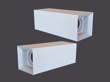 Spotlight housing in plasterboard DOUBLE LED CUBES 135°