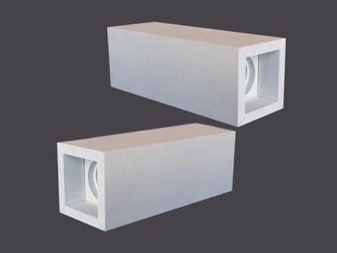 Spotlight housing in plasterboard DOUBLE LED CUBES 90°