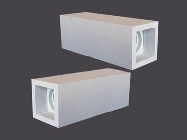 Porta faretti in Cartongesso CUBOTTI LED DOPPI 90°