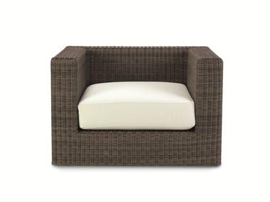Ethimo EtWick® garden armchair with armrests CUBE | Garden armchair