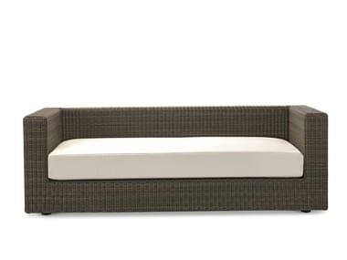 3 seater Ethimo EtWick® garden sofa CUBE | Garden sofa