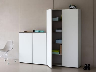 office storage unit. Tall Xeramica Office Storage Unit With Hinged Doors CUBE | Archiproducts