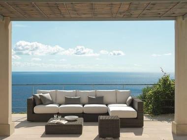 Sectional Ethimo EtWick® sofa CUBE   Sectional sofa