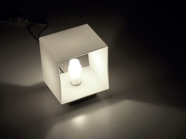 Blown glass bedside lamp CUBE | Table lamp