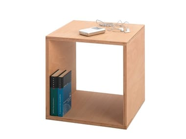 Beech coffee table / bedside table CUBE