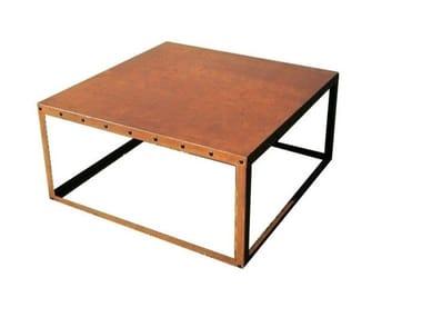 Square Corten™ coffee table CUBE