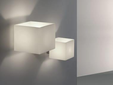 Indirect light glass wall light CUBE | Wall light