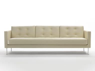 Tufted 4 seater leather sofa CUBIC | 4 seater sofa